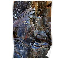 Colorful Eastern Oregon ancient rock art Poster