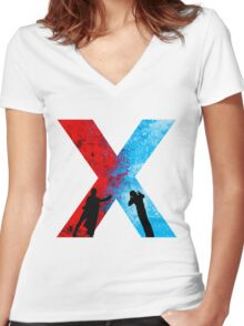 Choose Your Side Women's Fitted V-Neck T-Shirt