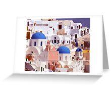 Oia's Majesty Greeting Card