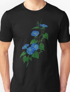 Blue Bindweed Isolated on White Unisex T-Shirt