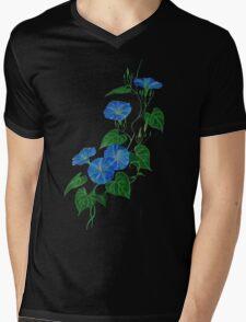 Blue Bindweed Isolated on White Mens V-Neck T-Shirt