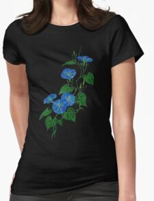 Blue Bindweed Isolated on White T-Shirt