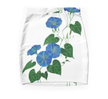 Blue Bindweed Isolated on White Mini Skirt