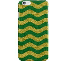 Cocacabana wave Brazilian colours.  iPhone Case/Skin