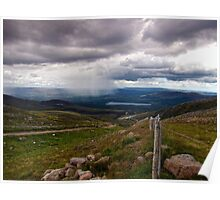 Watching Showers Cross The Highland Landscape Poster