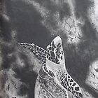 Sea turtle on reef by originalsbykaty