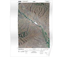 USGS Topo Map Washington State WA Wenas Lake 20110404 TM Poster