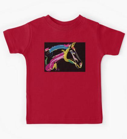 Horse-Lovely in colour Kids Tee