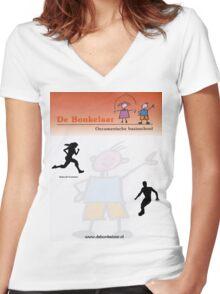 Bonkelaar ontwerp wit Women's Fitted V-Neck T-Shirt