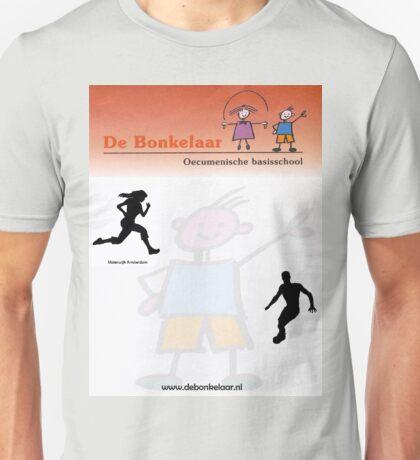 Bonkelaar ontwerp wit Unisex T-Shirt