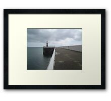 Ramsey Harbour Pier Isle of Man Framed Print
