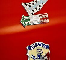1958 Fiat Abarth 750 GT Double Bubble Emblem by Jill Reger