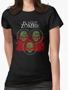 Plague Zombie Womens Fitted T-Shirt