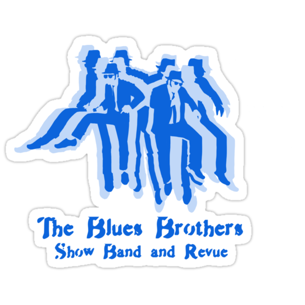 The Blues Brothers Dancing Silhouettes Shirt by Alex Kittle