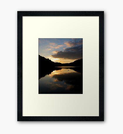 Lakeside Sunset Framed Print