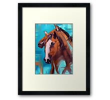 Horses Together 1 Framed Print