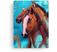 Horses Together 1 Canvas Print