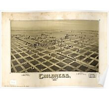 Panoramic Maps Childress Texas 1890 Poster