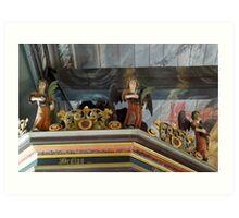 17th Century Church Angels Art Print