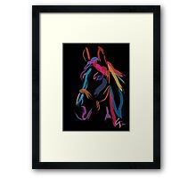 Pillow horse color me beautiful Framed Print