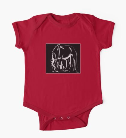 Horse -  Be strong One Piece - Short Sleeve