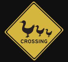 Ducks Crossing, Traffic Warning Sign, Australia Kids Tee
