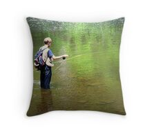 Gone Fishing - The Series #3 - The Art Of Fly Fishing Throw Pillow