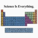 Science Is Everything (Grunge Periodic Table) by f451