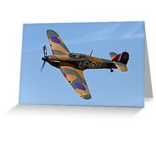 Hawker Hurricane Mk1 R4118/ UP-W Greeting Card