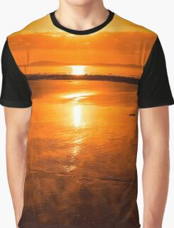 sunset and calm reflections at beal beach Graphic T-Shirt