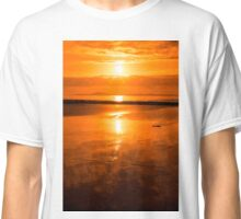 sunset and calm reflections at beal beach Classic T-Shirt