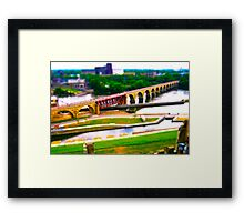 Minneapolis Stone Arch Bridge over Mississippi Framed Print