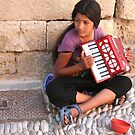 Grecian Street Musician by Laurel Talabere