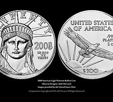 American Eagle Platinum Bullion Coins Print Series IV by Jeff Pierson