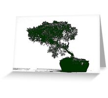 Bonsai Graphic Greeting Card