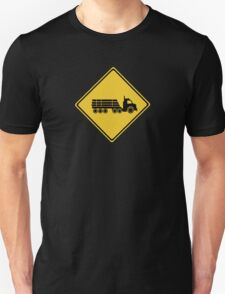 Logging Truck Warning, Traffic Warning Sign, Australia T-Shirt