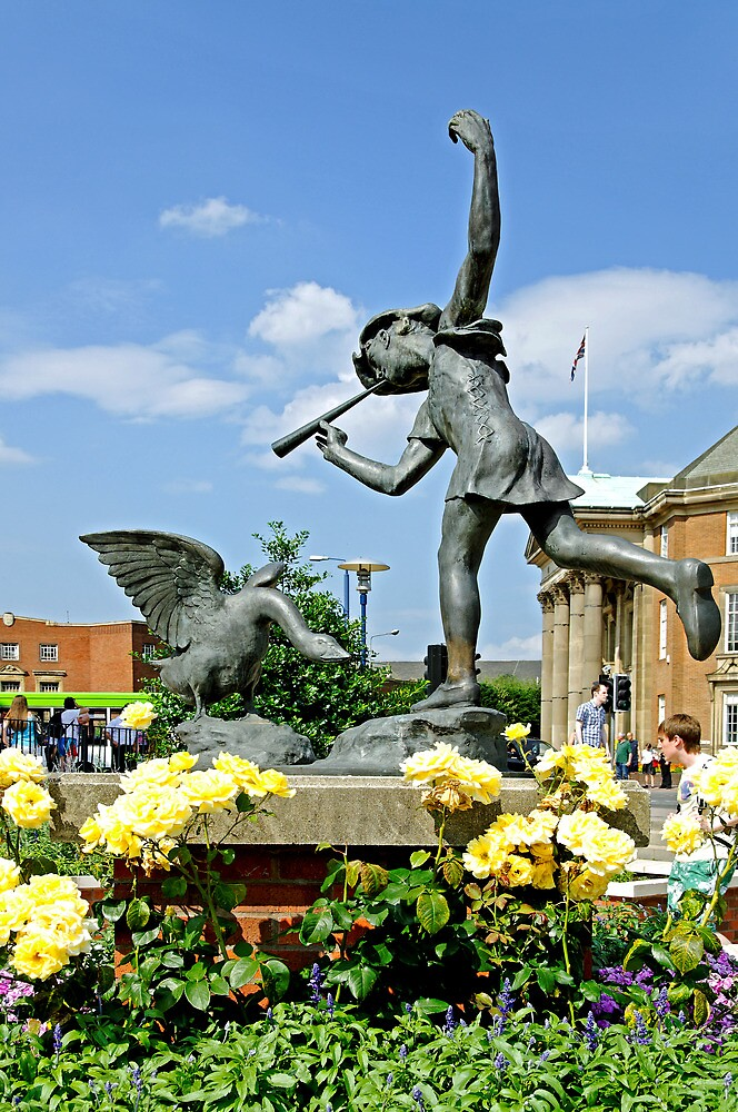 The Boy and the Goose Statue, Derby  by Rod Johnson