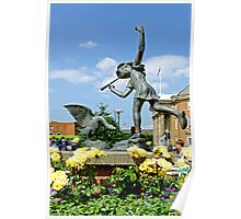 The Boy and the Goose Statue, Derby  Poster