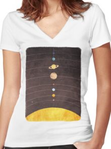 Solar System Women's Fitted V-Neck T-Shirt