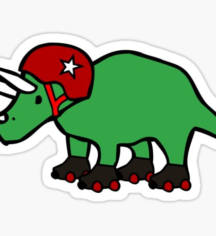 Roller Derby Triceratops Sticker