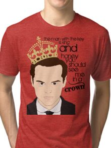 You should see Moriarty in a crown Tri-blend T-Shirt