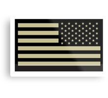 AMERICAN ARMY, Soldier, American Military, Arm Flag, US Military, IR, Infrared, USA, Flag, Reverse side flag, on BLACK Metal Print