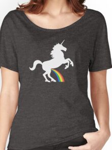 Unicorn Rainbow Pee Women's Relaxed Fit T-Shirt