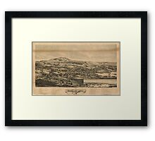 Panoramic Maps Blue Hill Maine 1896 Framed Print