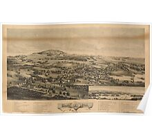 Panoramic Maps Blue Hill Maine 1896 Poster