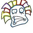 Retro Tiki Mask Smirk by DomCowles12