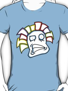 Retro Tiki Mask Smirk T-Shirt
