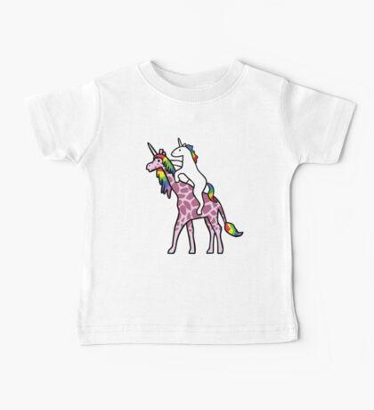 Unicorn Riding Girafficorn Baby Tee