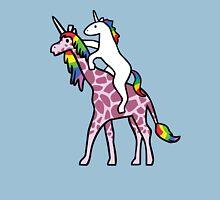 Unicorn Riding Girafficorn Unisex T-Shirt