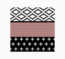Elegant Pink, White, & Black Modern Geometric Classic T-Shirt